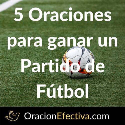 Oración para ganar un partido de fútbol
