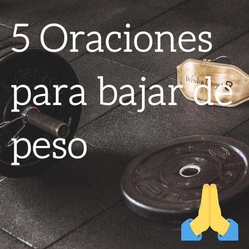 Oraciones para bajar de peso