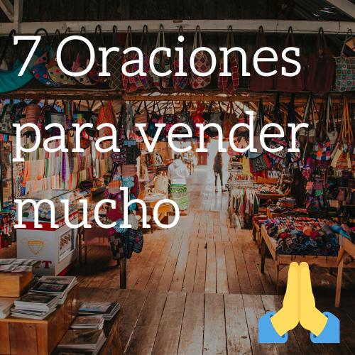 Oraciones para vender mucho